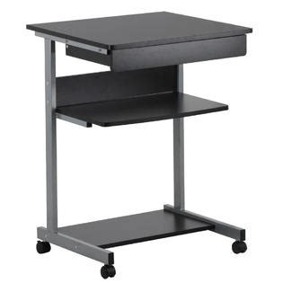 Small Bookcase On Wheels by Cn00050417 Yaheetech Black Wood Small Laptop Computer
