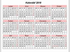Volný kalendář pro tisk – Download 2019 Calendar Printable