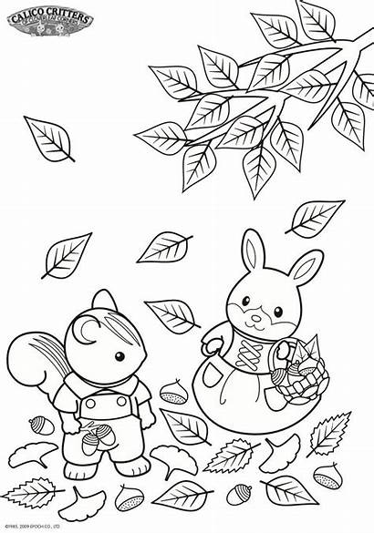 Sylvanian Families Coloring Pages Calico Critters Fun