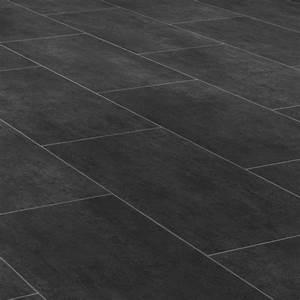 Pvc Boden Schwarz : pvc cv vinyl bodenbelag fliese schwarz melbourne noir breite 3 m 1m 9 50 ebay ~ Frokenaadalensverden.com Haus und Dekorationen