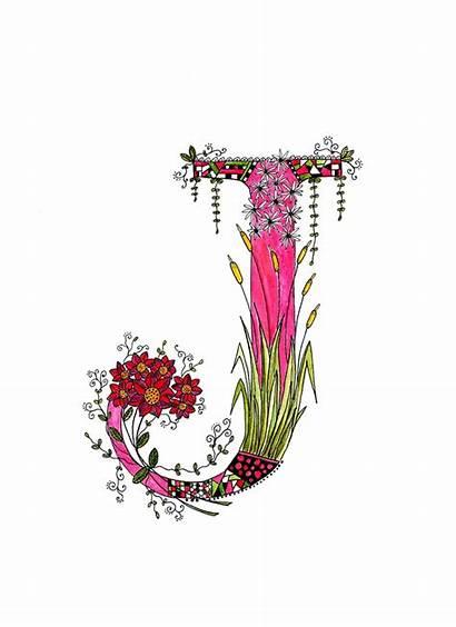 Letter Monogram Letters Alphabet Floral Nursery Transparent