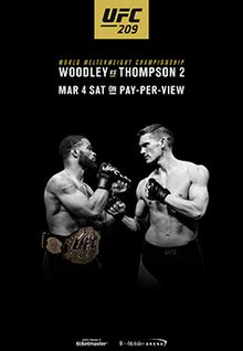 ufc  woodley  thompson  fight card event page