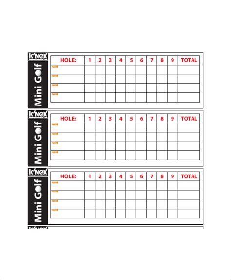 golf scorecard template 10 golf scorecard templates pdf word excel free premium templates
