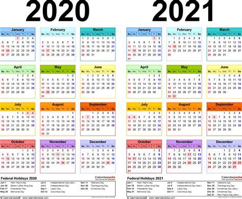 Free Printable Two-year Pdf Calendars
