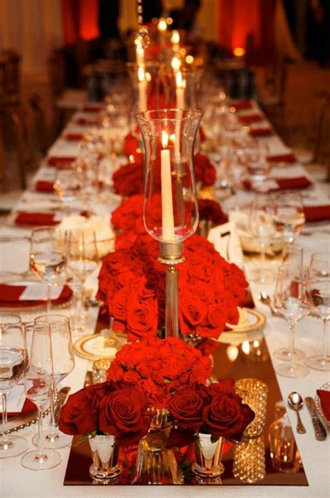 37 Sparkling Ideas for Red Themed Wedding White gold