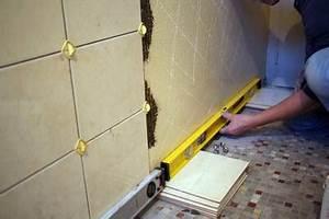 Pose Carrelage Mural Sur Carrelage Existant : poser du carrelage sur un mur hep ~ Melissatoandfro.com Idées de Décoration