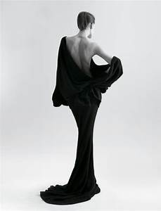 back, beauty, black and white, dress, girl - image #145610 ...