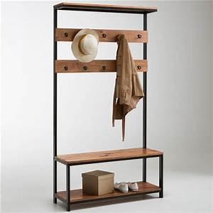 banc vestiaire meuble d39entree hiba source http www With meuble rangement entree couloir 3 meuble entree porte manteau
