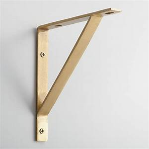 Gold Metal Mix & Match Shelf Brackets Set of 2 World Market