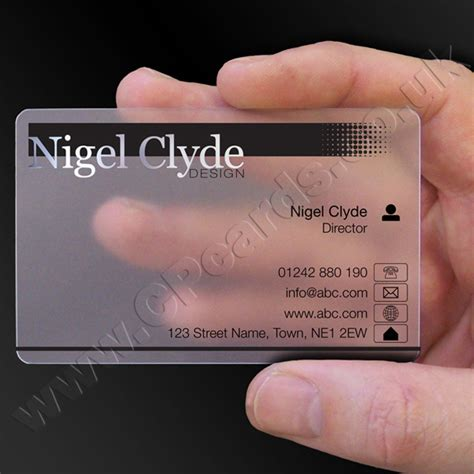 frosted clear plastic business cards