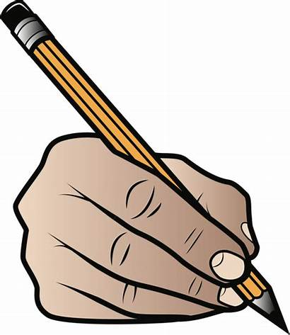 Pencil Clipart Grip Writing Holding Transparent Drawing