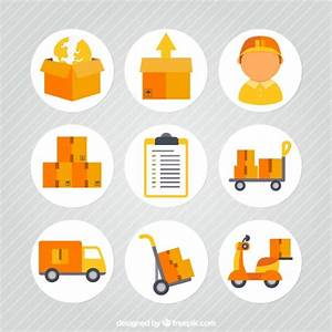 Transportation and delivery icons Vector | Free Download