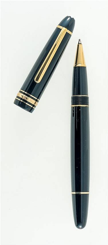 mont blanc meisterstuck stylo bille en laque et m 233 ta