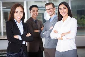 Happy Young Business Team of Four People Photo   Free Download