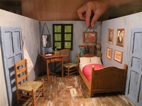 bedroom  arles van gogh miniature roombox
