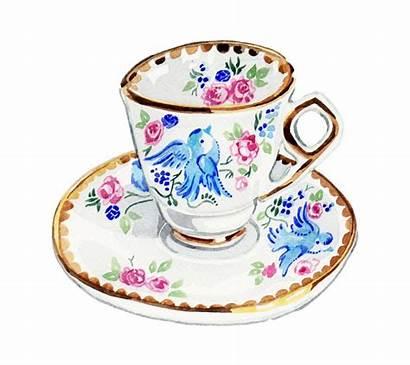 Teacup Drawing Teacups Tin Biscuit Clipartmag Card