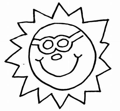 Summer Coloring Pages Seasons Sun Sheet Google