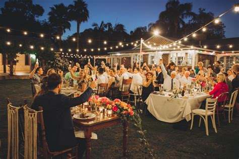 Wedding Reception In Backyard by Jess Ed S Boho Backyard Wedding Nouba Au Jess