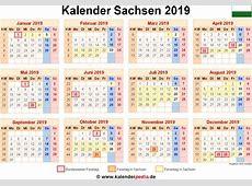 Kalender 2019 Sachsen Ausdrucken, Ferien, Feiertage