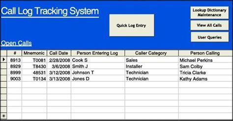 sales call log excel templates excel xlts