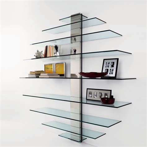 Mounted Shelving Unit by Glass Wall Shelf Glass Wall Shelving Units Wall Mounted