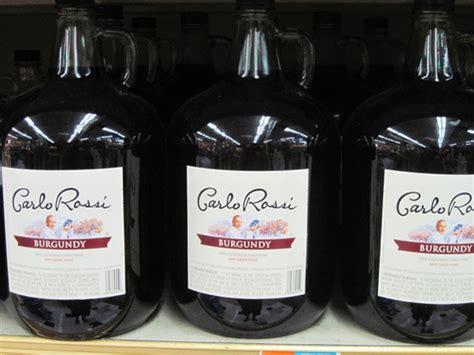 Drinking The Bottom Shelf Carlo Rossi Burgundy  Serious Eats