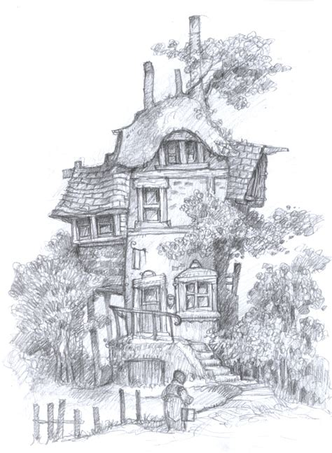 Pencil Work - Fantasy Environments and Characters. by ...