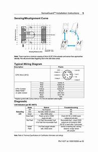 Sensing  Misalignment Curve Typical Wiring Diagram  Diagnostic  Sensaguard
