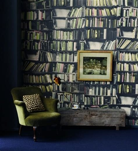 Wallpaper Bookcase Design by Book Shelf Themed Wallpaper Ideal For A Bookworm S