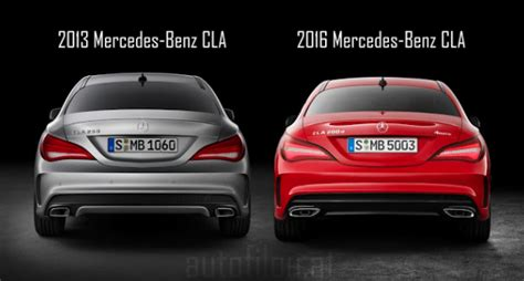 cla    facelift exterior comparison