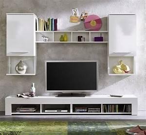 Möbel Farbe Weiß : wohnwand anbauwand wohnzimmer tv schrank schrankwand ~ Sanjose-hotels-ca.com Haus und Dekorationen