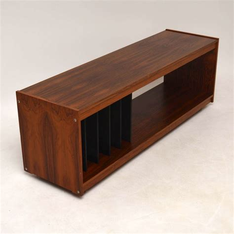 danish rosewood retro sideboard record cabinet tv