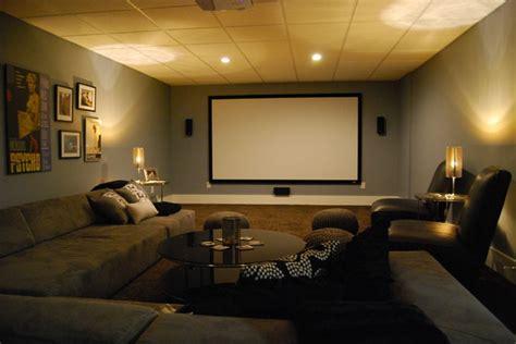 basement media room  sectional sofa  giraffe