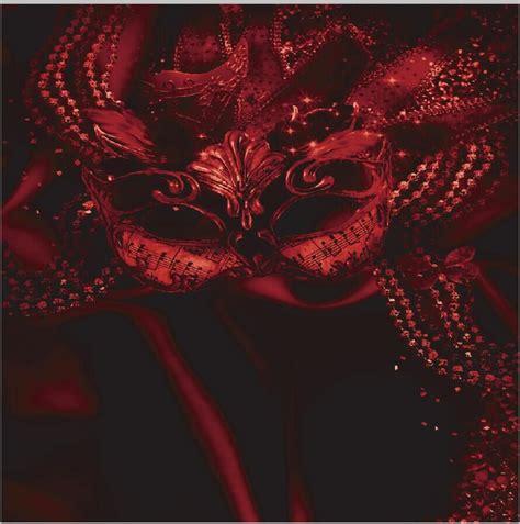 xft mardi gras masquerade vintage dark red mask party