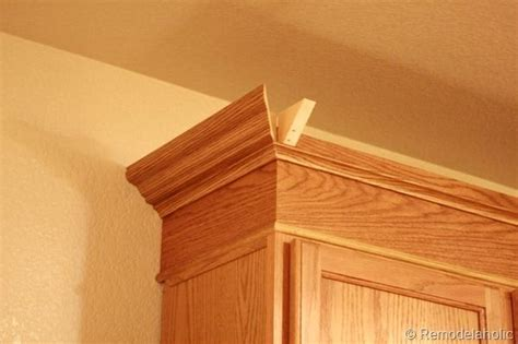 Oak Crown Molding by Upgrade Oak Kitchen Cabinets With Crown Mouldings To