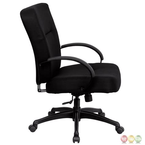 hercules big black fabric office chair w wide seat