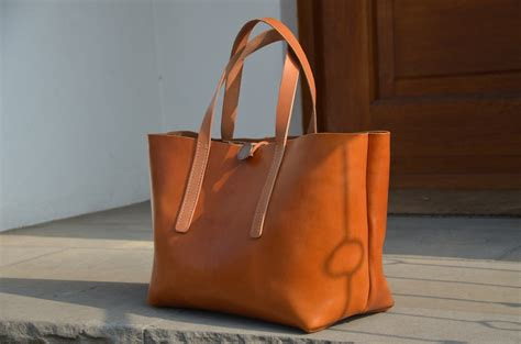 bag leather tote bag project   style travel collecting  food blog