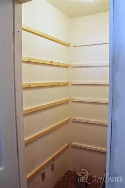build pantry shelving  craft patch