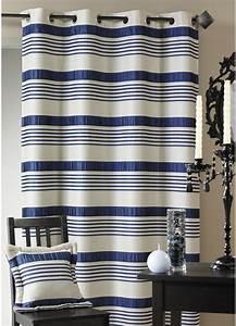 Double Rideau Bleu : double rideau jacquard rayures satin es bleu bordeaux lin gris parme homemaison ~ Teatrodelosmanantiales.com Idées de Décoration