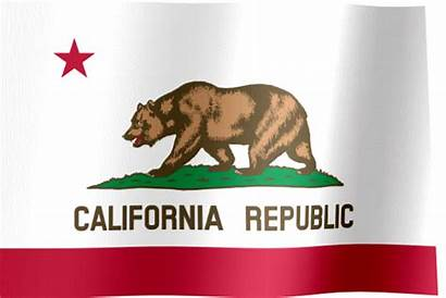 California Flag State Waving Animated Flags States
