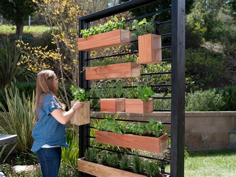 How To Make A Vertical Herb Garden From A Fence