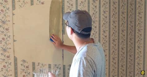 remove  wallpaper    hot water