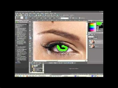 how to change eye color in corel paint shop pro