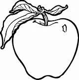 Coloring Pages Fruits Apple Fruit Preschool Crafts Toddler Lots Kindergarten sketch template