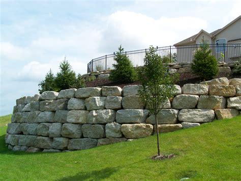 boulder wall boulder retaining walls landscaping st louis landscape design landscape architecture