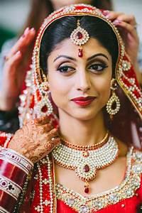 sikh indian bride red chunni gold jewelry matha patti by ...