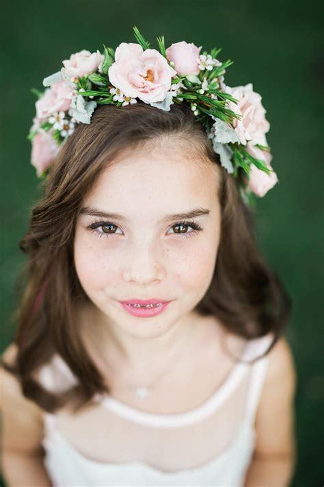 flower girl flower crown pink flower crown flower girl