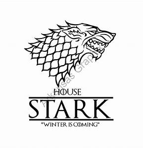 Game of Thrones House Stark Vector/Cuttable Files Eps AI Pdf
