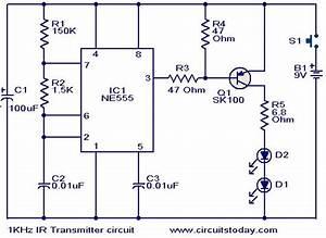 1khz Ir Transmitter Circuit