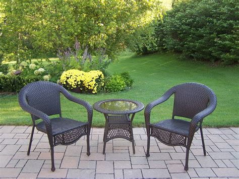 kmart wicker patio sets oakland living resin wicker 3 pc set with 25 inch side